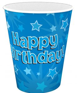 Happy Birthday Blue Cups