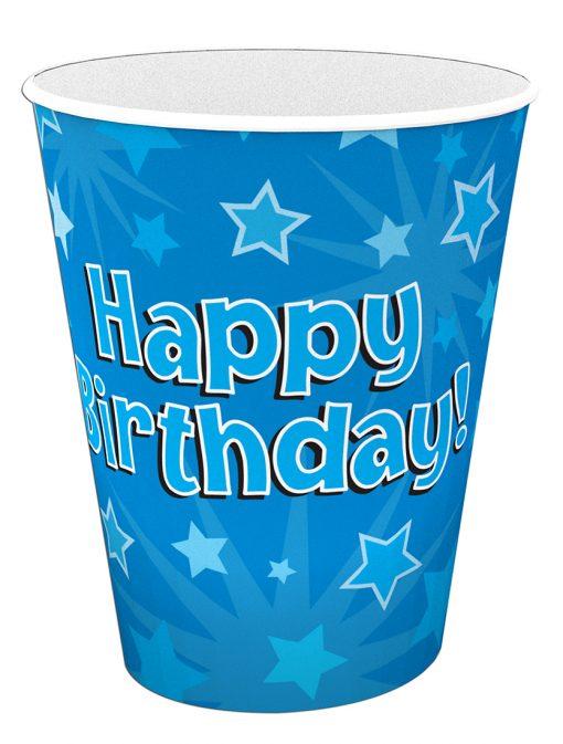 Happy Birthday Blue Cups
