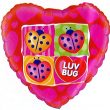 "18"" Heart Luv Bug Foil"