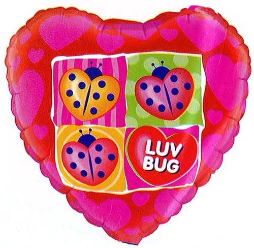 "18"" Heart Luv Bug Foil"
