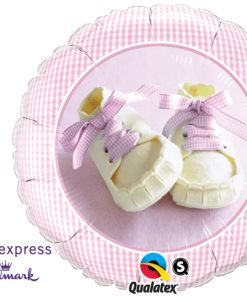 "18"" Baby Girl Shoes Foil"