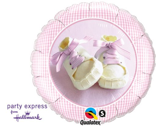 """18"""" Baby Girl Shoes Foil"""