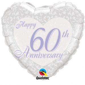"""18"""" Happy 60th Anniversary Foil"""