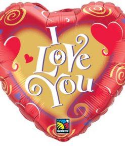 I Love you Swirls Foil