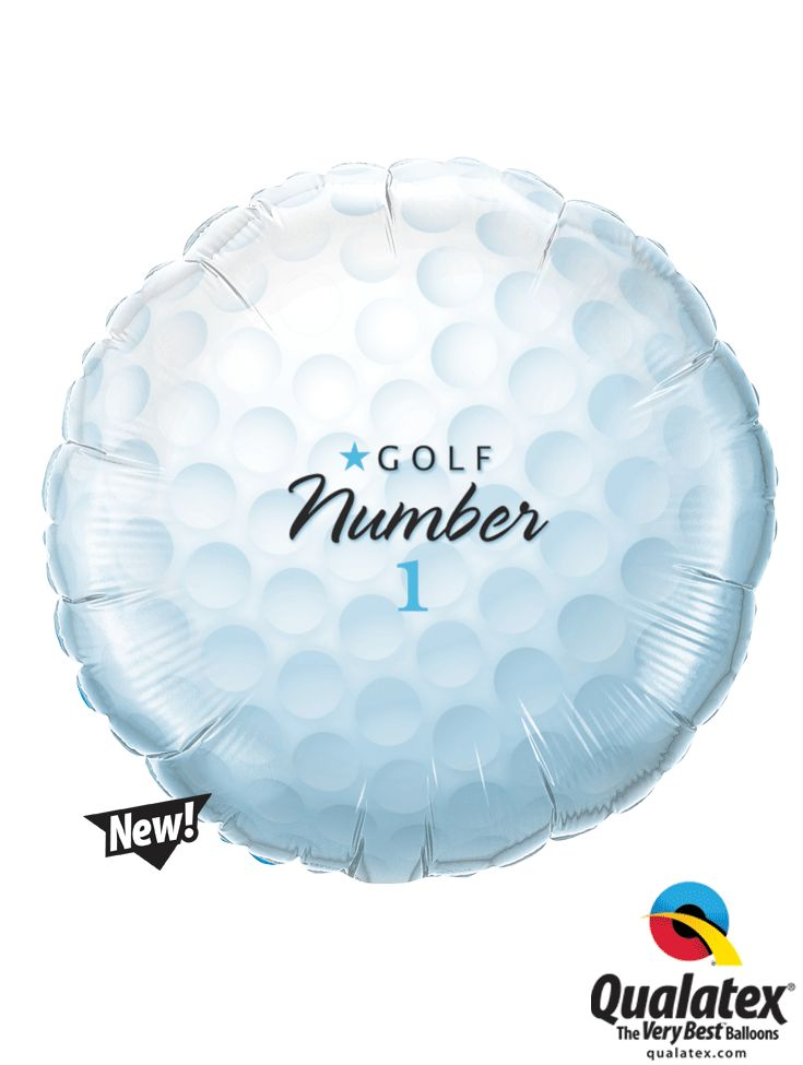 "18"" Golf Ball Number 1 Foil Balloon"