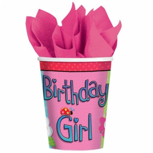 Birthday Girl Paper Cups