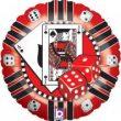 "18"" Casino Chip Foil Balloon"