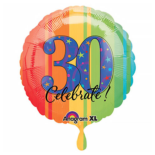 "18"" Celebrate! 30 Foil"