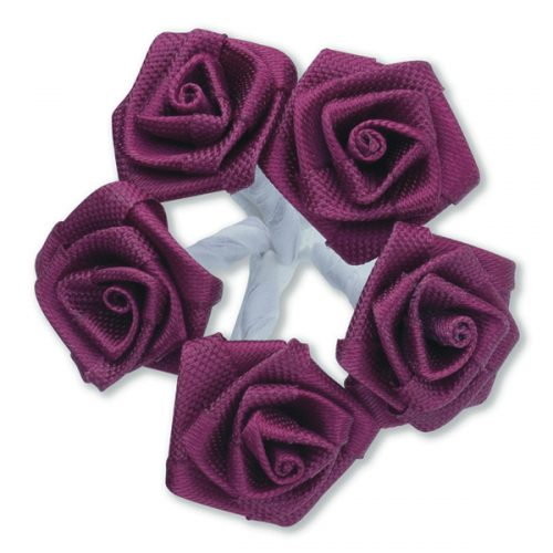 Medium Ribbon Rose Burgundy