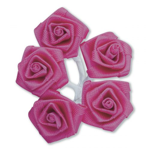 Medium Ribbon Rose Fuchsia