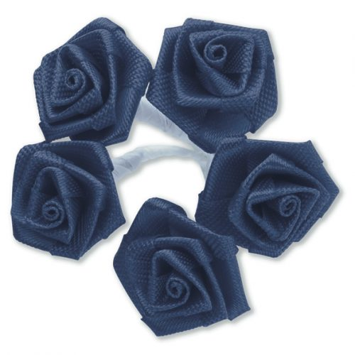 Medium Ribbon Rose Navy Blue