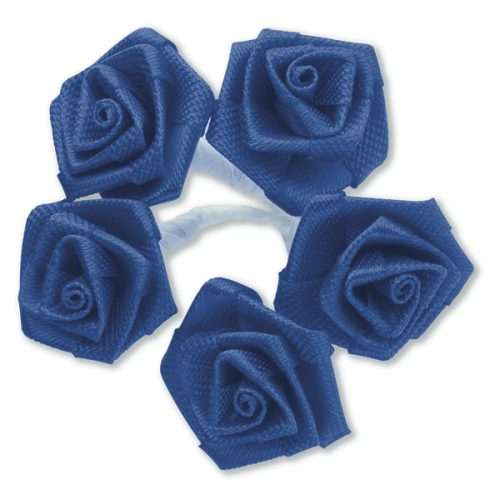 Medium Ribbon Rose Royal Blue