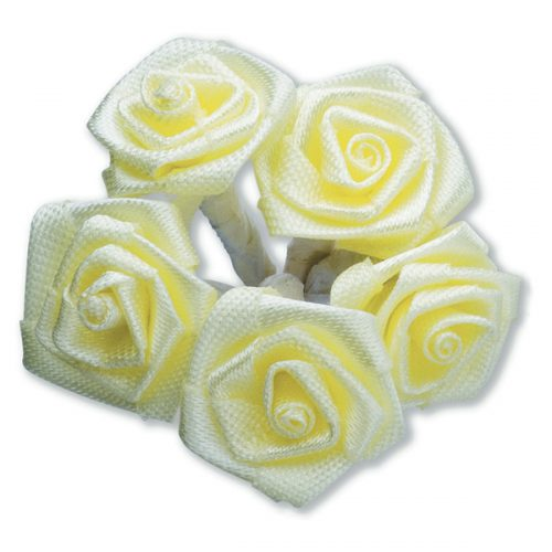 Medium Ribbon Rose Yellow