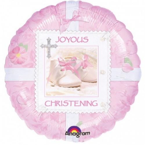 "18"" Tiny Blessing Pink Christening Foil"