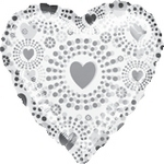 "18"" Bedazzled Hearts Holographic Foil"