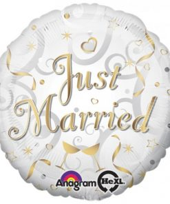 """17"""" Just Married Foil"""