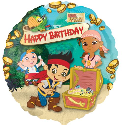 """17"""" Jake and the Neverland Pirates Happy Birthday Foil"""