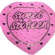 """18"""" Sweet Sixteen Heart Foil"""