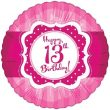 """17/18"""" Perfectly Pink Happy 13th Birthday Foil"""