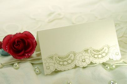 Laser Cut Ivory Dream Place Cards