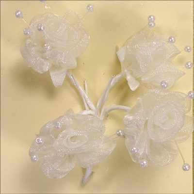 Sheer Ivory Flower with Pearls