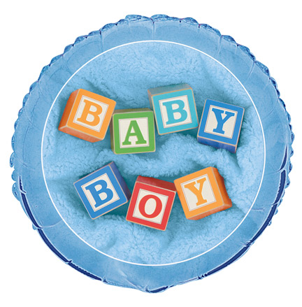 "18"" Baby Boy Blocks Foil"