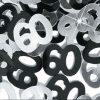 Black/Silver '60' Foil Age Confetti