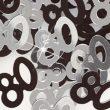 Black/Silver '80' Foil Age Confetti