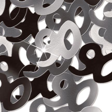 Black/Silver '90' Foil Age Confetti