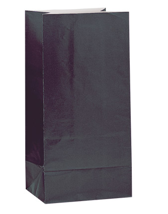 Paper Party Bags Black
