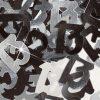 Black/Silver '13' Foil Age Confetti