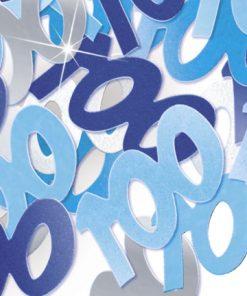 Blue '100' Foil Age Confetti