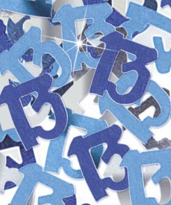 Blue '13' Foil Age Confetti