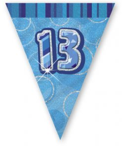 "Blue Age ""13"" Prism Pennant Banner"