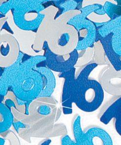 Blue '16' Foil Age Confetti