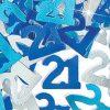 Blue '21' Foil Age Confetti
