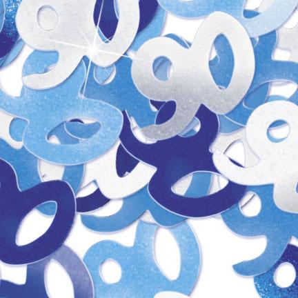 Blue '90' Foil Age Confetti Confetti