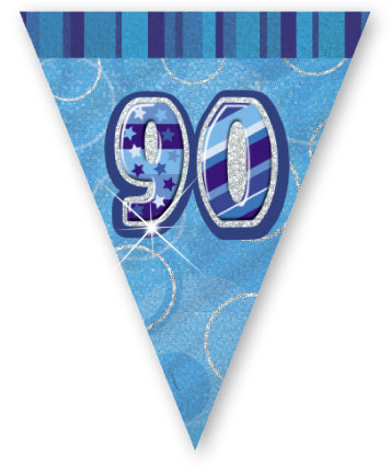 """Blue Age """"90"""" Prism Pennant Banner"""