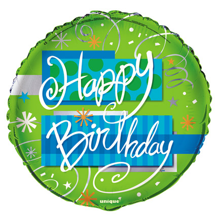 "18"" Bright Birthday Foil"