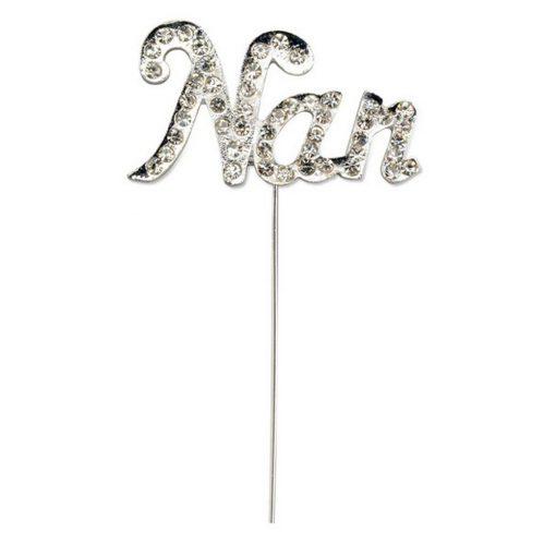 Diamanté Nan on Silver Stem