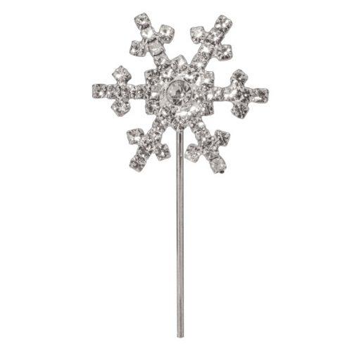 Diamanté Snow Flake on Silver Stem