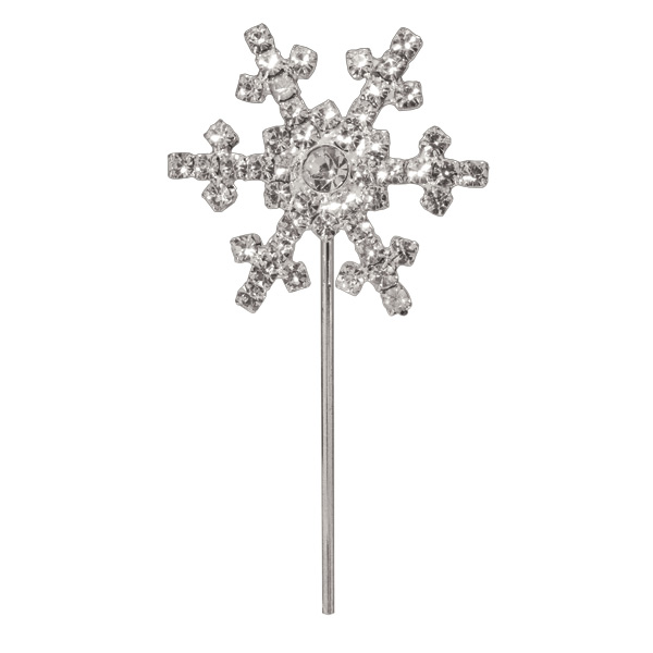 Diamanté Snow Flake on Silver Stem