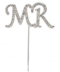 Diamanté Mr on Silver Stem