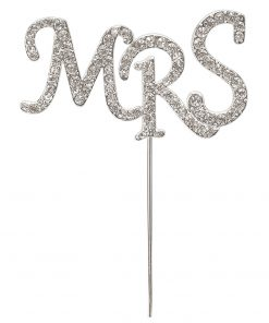 Diamanté Mrs on Silver Stem