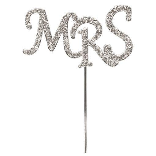 Diamanté Mrs on Silver Stem