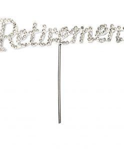 Diamanté Retirement on Silver Stem