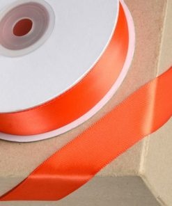6mm Double Sided Coral Satin Ribbon