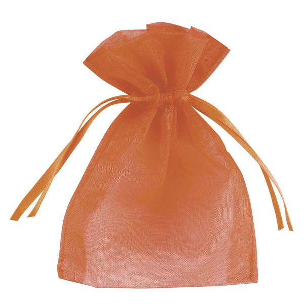 Small Organza Favour Bags - Orange
