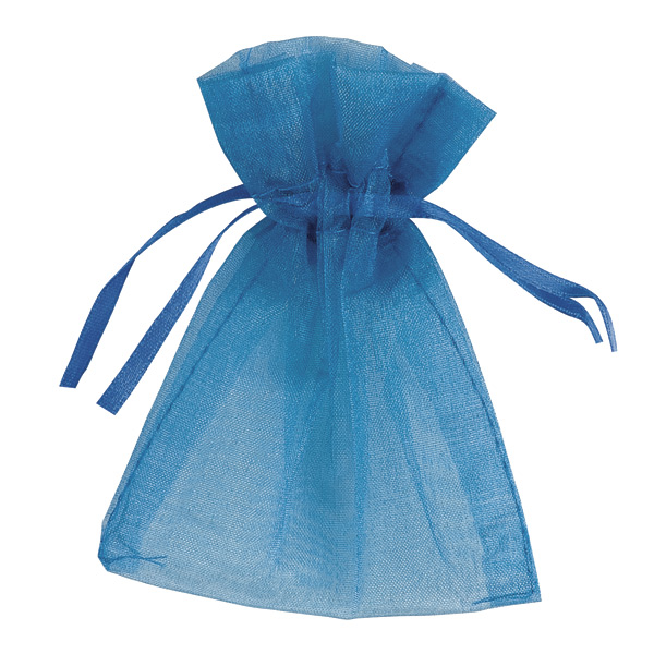 Small Organza Favour Bag - Wedgewood Blue