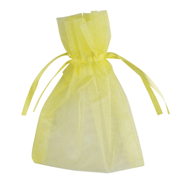 Small Organza Favour Bags - Yellow